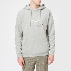 Axel Arigato Men's Tonal Bird Slim Fit Hoodie - Grey Melange