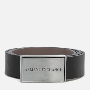 Armani Exchange Men's Leather Reversible Belt - Black/Grey