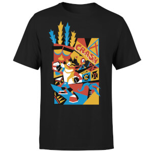 Crash Bandicoot Geo T-shirt - Zwart