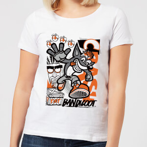 Crash Bandicoot High Four Women's T-Shirt - White