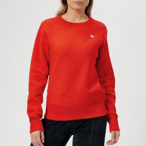 Champion Women's Crew Neck Sweatshirt - Orange