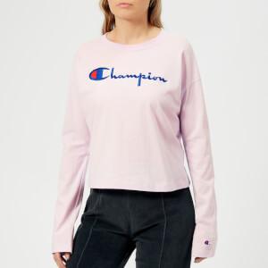 Champion Women's Crew Neck Crop Top - Lilac