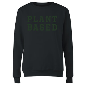 Plant Based Women's Sweatshirt - Black