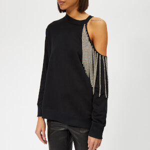 Christopher Kane Women's Crystal Cut Out Sweatshirt - Black