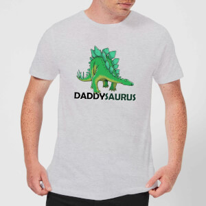 Daddysaurus Men's T-Shirt - Grey