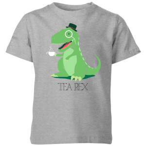 Tea Rex Kids' T-Shirt - Grey