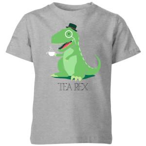 Tea Rex Kids' T-Shirt - Grey