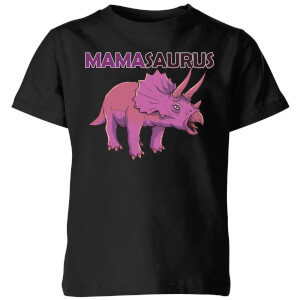 Mama Saurus Kids' T-Shirt - Black