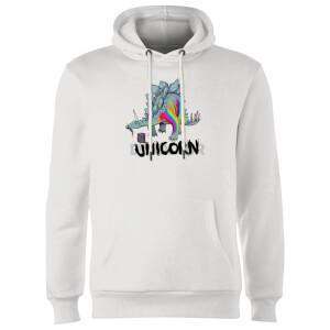 DinoUnicorn Hoodie - White