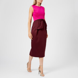 Ted Baker Women's Nikkita Contrast Tulip Bow Midi Dress - Purple