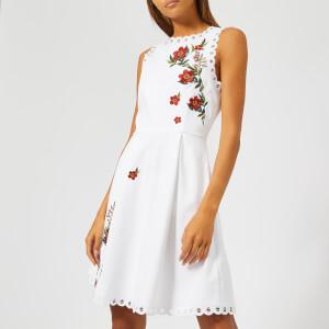 Ted Baker Women's Kristil Kirstenbosch Skater Dress - White/Pink