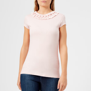 Ted Baker Women's Charre Bow Neck Detail Fitted T-Shirt - Nude/Pink