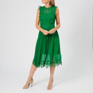 Ted Baker Women's Porrla Frill Lace Midi Dress - Bright Green