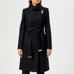 Ted Baker Women's Sandra Long Wool Wrap Coat - Black
