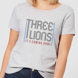 Three Lions It's Coming Home Women's T-Shirt - Grey