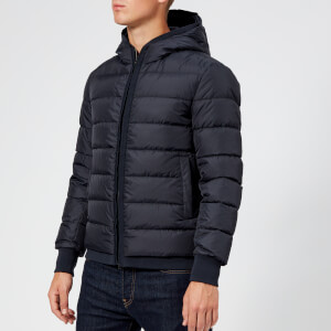 Herno Men's Hooded Down Short Jacket - Navy