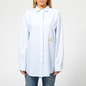 Tommy Hilfiger Women's Icons Pames Boyfriend Shirt - Blue Stripe