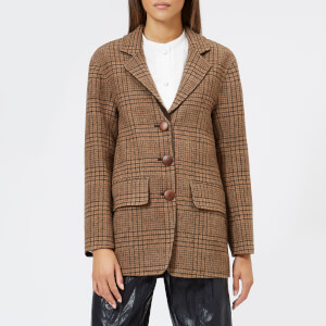 Rejina Pyo Women's Maria Blazer - Wool Check Beige