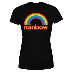 Rainbow Core Logo Women's T-Shirt - Black