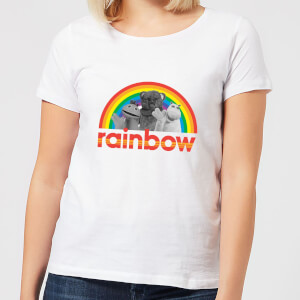Rainbow Logo Characters Women's T-Shirt - White