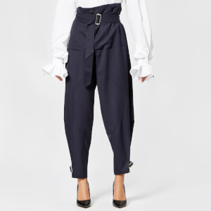 JW Anderson Women's Fold Front Utility Trousers - Navy