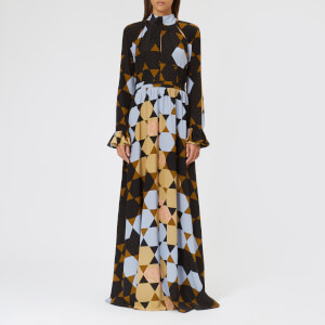 Stine Goya Women's Regitze Hexigons Silk Maxi Dress - Hexigons Amber