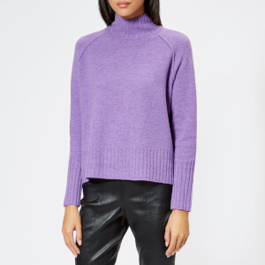 Whistles Women's Funnel Neck Wool Knitted Jumper - Lilac