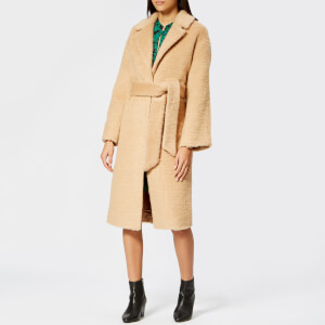 Whistles Women's Textured Belted Coats - Camel
