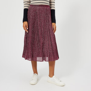Whistles Women's Sparkle Pleated Skirt - Pink