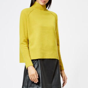 Whistles Women's Funnel Neck Wool Knitted Jumper - Yellow