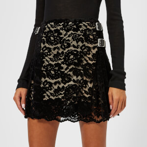 Christopher Kane Women's Flock Mini Kilt - Black