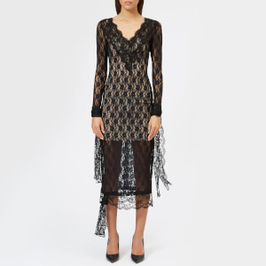 Christopher Kane Women's Small Flower Stretch Lace Dress - Black