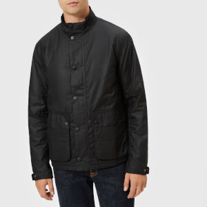 Barbour International Men's Armour Wax Jacket - Black
