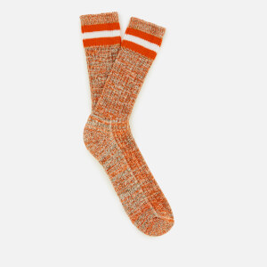 Universal Works Men's Everyday Stripe Socks - Orange