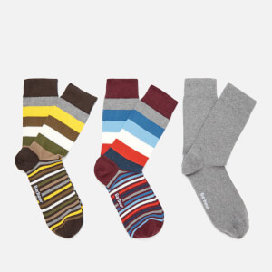 Barbour Men's Heywood Stripe Sock Gift Box - Multi