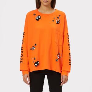 McQ Alexander McQueen Women's Tri Neck Short Sleeve T-Shirt - Acid Orange