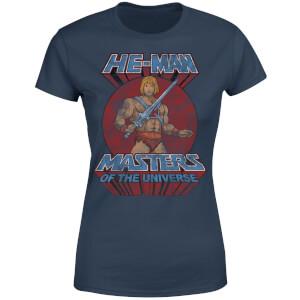 He-Man Distressed Women's T-Shirt - Navy