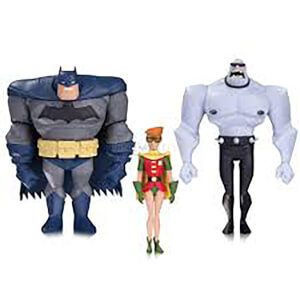 DC Comics Batman Animated Batman Robin Mutant 3 Pack Action Figure