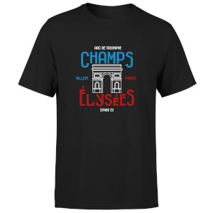 Champs Elysees Men's T-Shirt - Black