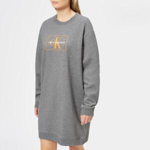 Calvin Klein Women's Graphic Sweatshirt Dress - Mid Grey Heather