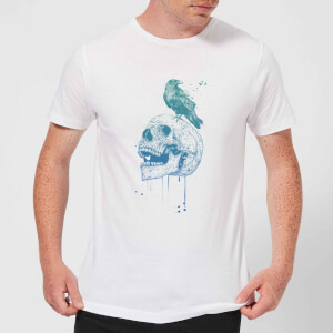 Balazs Solti Skull And Crow Men's T-Shirt - White