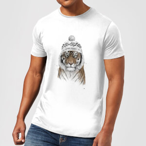 Balazs Solti Winter Tiger Men's T-Shirt - White