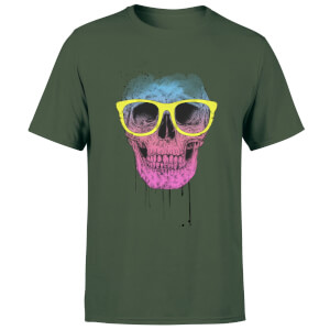 Balazs Solti Skull And Glasses Men's T-Shirt - Forest Green