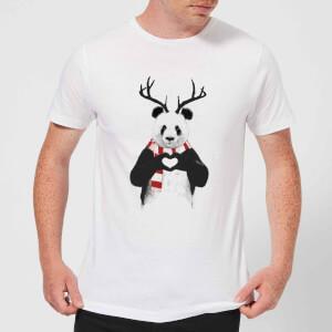 Balazs Solti Winter Panda Men's T-Shirt - White