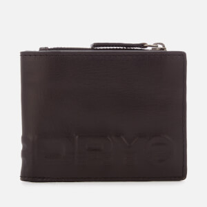 Superdry Men's Profile Leather Wallet in Tin - Black