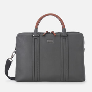 Ted Baker Men's Giiza Crossgrain Document Bag - Charcoal