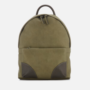 Ted Baker Men's Graveet Nubuck PU Backpack - Olive