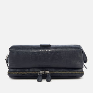Ted Baker Men's Chocks Exotic Leather Wash Bag - Blue