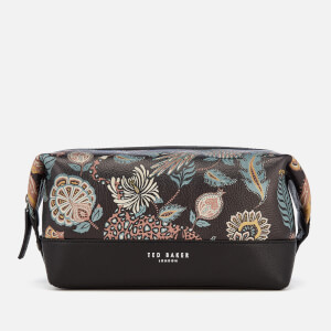 Ted Baker Men's Clubb Printed Leather Wash Bag - Black