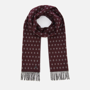 Ted Baker Men's Lifton Diamond Scarf - Dark Red